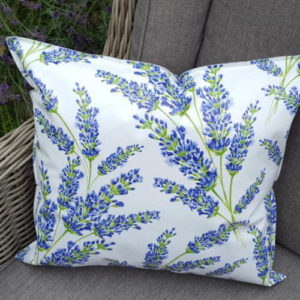 Wachstuchkissen / Outdoor Kissen Lavendel