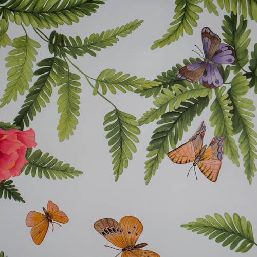 Kissen Blume mit Schmetterling