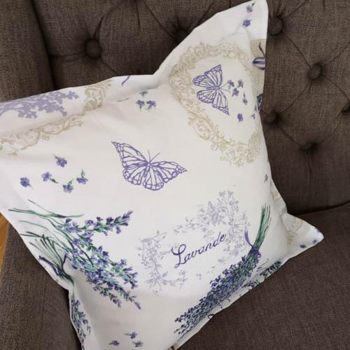 Kissenhülle Lavendel auf dem Sessel