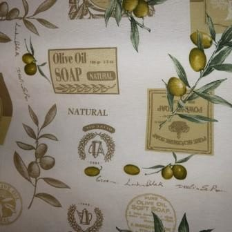 Kissenhülle Oliven Stoff