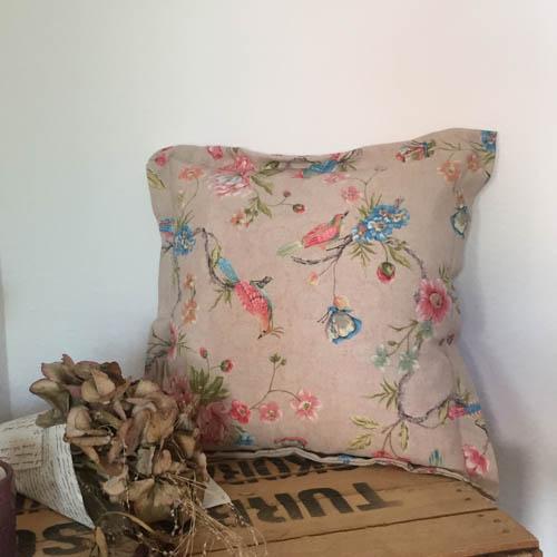 Kissenhülle Vogel bunt aus Stoff Wohnzimmer