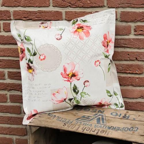 Loungekissen Blumen 50x50cm