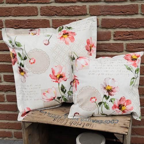 Loungekissen Blumen 35x38cm und 50x50cm