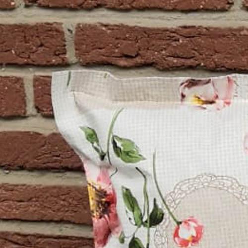 Loungekissen Blumen umzingelter Rand