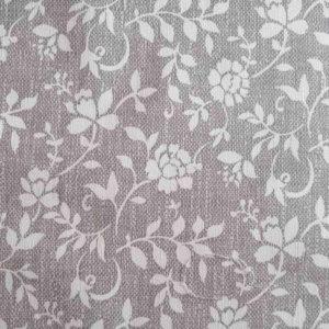 Garten Tischdecke Grau mit weißen Blumenranken