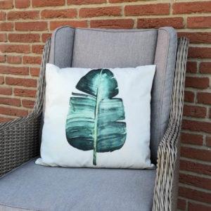 Kissenhülle Palmenblatt aus Stoff