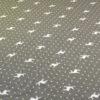 Stoff Hirsch creme mit Punkten - Hintergrund grau