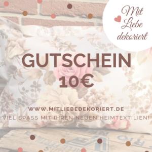 Webseite Gutschein Kissen 10€