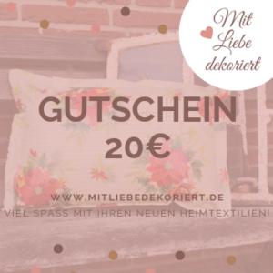 Webseite Gutschein Kissen 20€