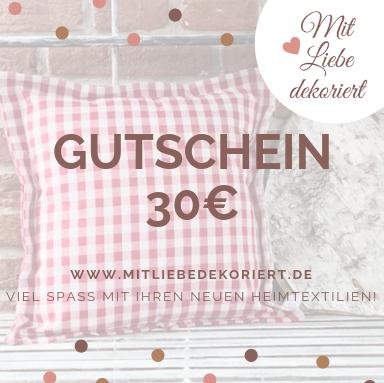 Website Gutschein Kissen 30€