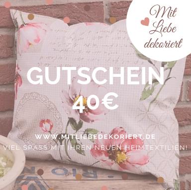 Website Gutschein Kissen 40€