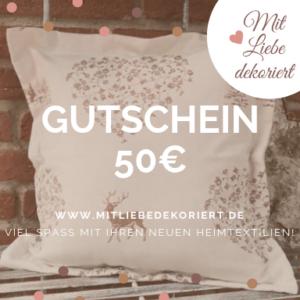 Website Gutschein Kissen 50€