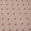 Stoff Hirsch rot mit Punkten - Hintergrund beige
