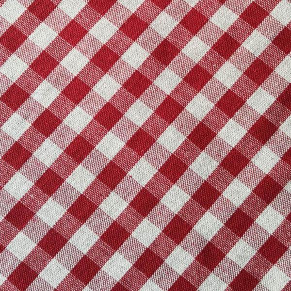 Tischläufer rot kariert (Stoff)