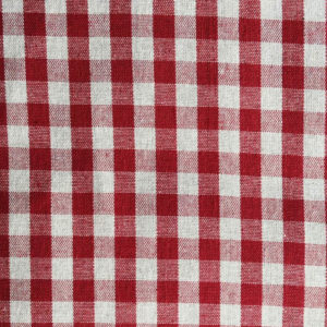 Tischdecke Rot kariert (Stoffmuster)