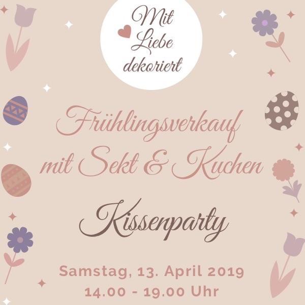 Frühlingsverkauf / Kissenparty Weyhe