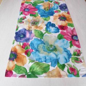 Tischläufer 140 x 40 cm - Bunte Blumen