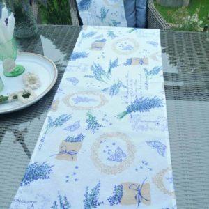 Tischläufer Lavendel für draußen