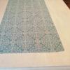 Tischläufer für den Wohnzimmertisch Blau mit Ornamenten