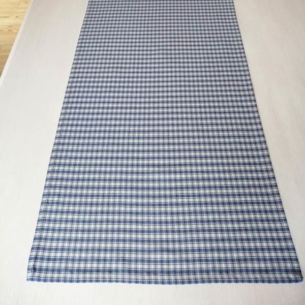 Tischläufer kariert in blau - Toller Landhausstil