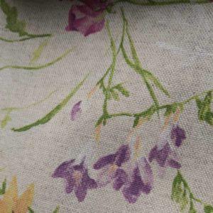 Meterware Beschichtete Baumwolle Blumen