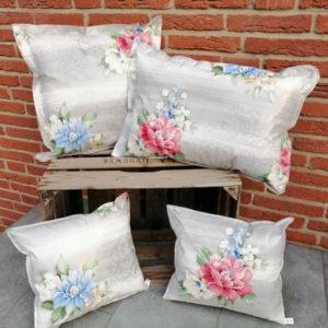Dekokissen Garten - Motiv Blumenbouquet