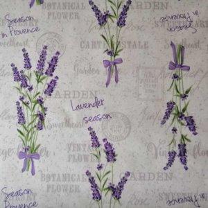 Mitteldecke Flieder mit Lavendelmotiv