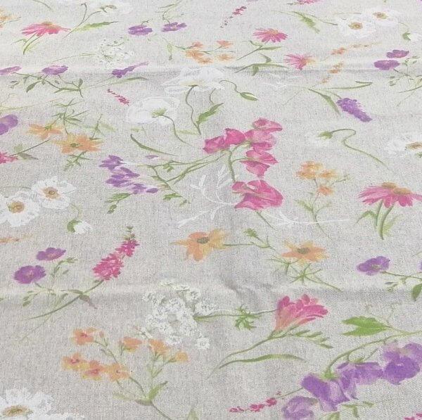 Meterware Beschichtete Baumwolle Blumen auf der Wiese