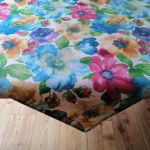 Tischdecke Blumen bunt
