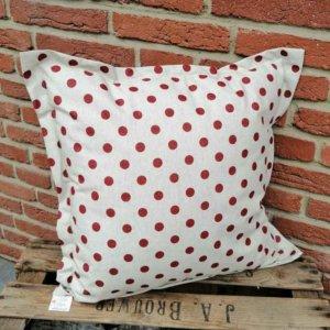 Wetterfeste Kissen für den Garten - Punkte rot