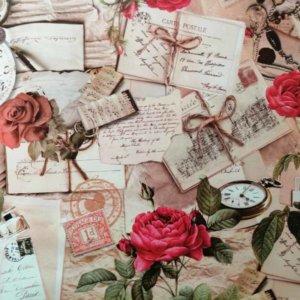 Tischdecke Rosen Nostalgie