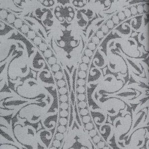 Meterware Graue Ornamente Jacquardstoff