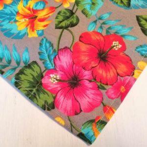 Tischdecke Hawaii Blumen aus Baumwollmischung