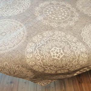 Tischdecke Mandala Muster aus Baumwollmischung