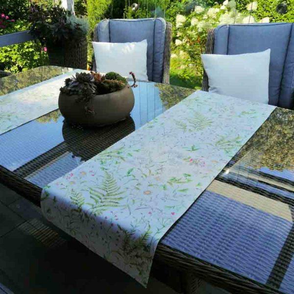 Tischläufer Outdoor Wiesenblumen (beschichtet) für draußen