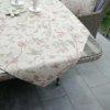 Tischdecken Vogel in Leinenoptik (beschichtet)
