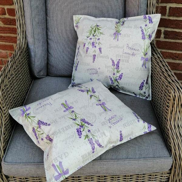 Wachstuchkissen Outdoor Kissen Lavendel klein
