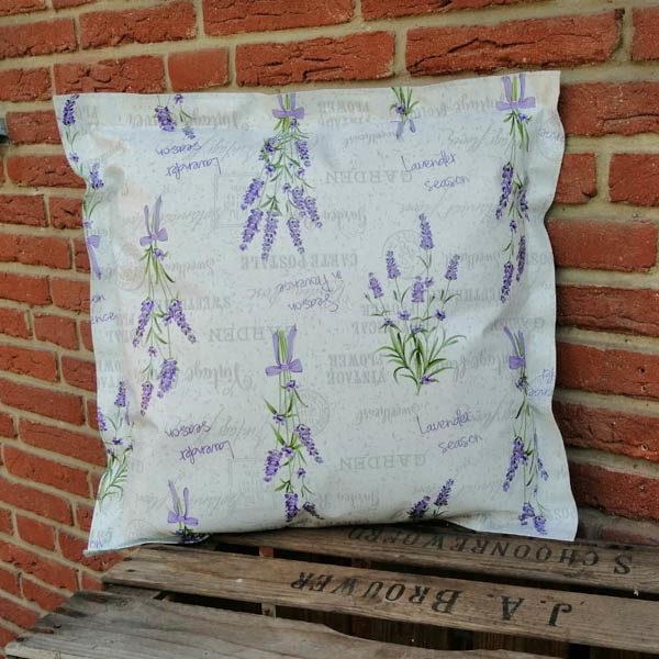Wachstuchkissen Outdoor Kissen Lavendel 50x50cm