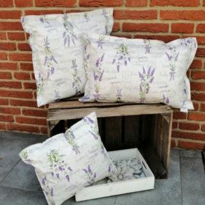 Wachstuchkissen Outdoor Kissen Lavendel