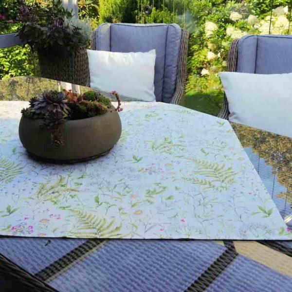 Wiesenblumen Mitteldecke - Beschichtete Baumwolle für draußen