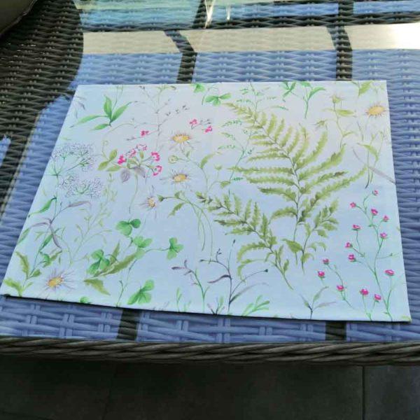 Platzdeckchen Wiesenblumen beschichtete Baumwolle