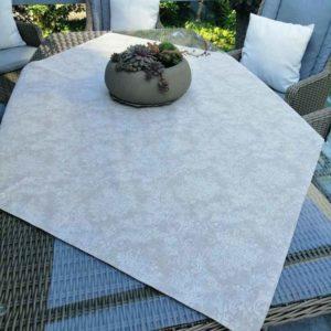 Abwaschbare Tischdecke Beige mit Blütenranken