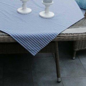 Tischdecke blau kariert im Landhausstil