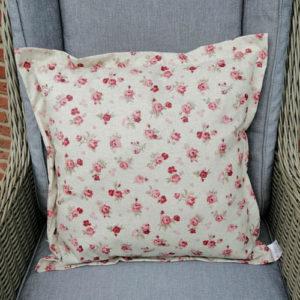 Bodenkissen bunt mit rosa Rosen (beschichtet) 50x50cm