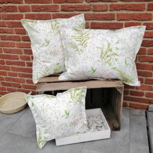 Kissen Gräser und Blumen aus Baumwolle 3 Größen