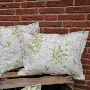 Kissen Gräser und Blumen aus Baumwolle 45x60cm