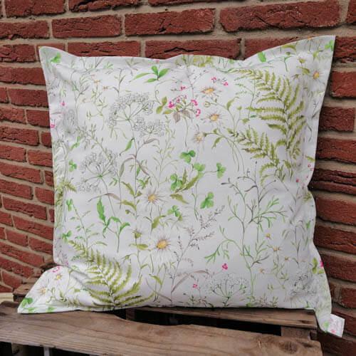 Kissen Gräser und Blumen aus Baumwolle 60x60cm
