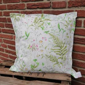 Kissen Gräser und Blumen aus Baumwolle 50x50cm