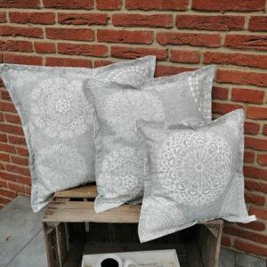 Kissen Mandala Muster aus Baumwollmischung 3 Größen