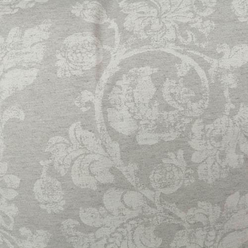 Tischdecke grau mit Blätterranken